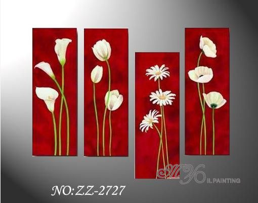 LARGE LILLIES PAINTING LILY CANVAS PICTURES  WALL ART SPLIT MULTI rdy 2 hang
