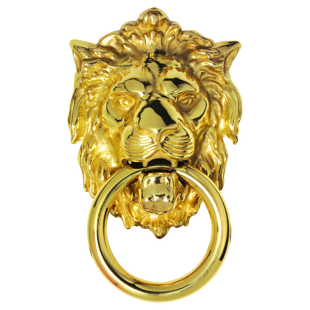 ... with a gloriously fierce expression defying anyone to knock upon this door! The ring knocker is held securely in the lions mouth between bared fangs.  sc 1 st  Pinterest & Lion Head Knocker (Small) FG8C. A finely detailed lions head and ...