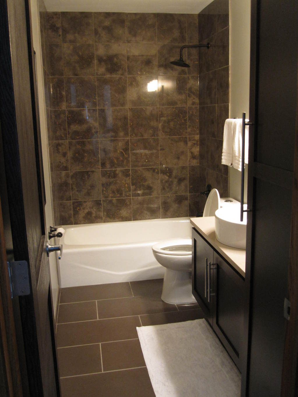 Bathroom Delectable Bathroom Decoration Using Dark Brown
