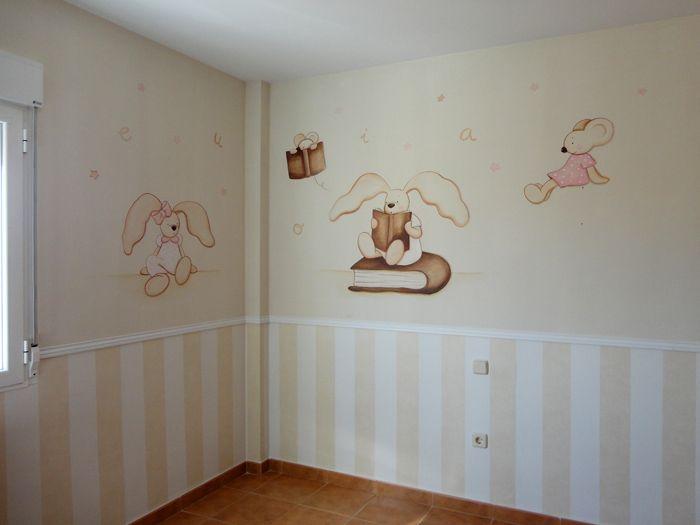 Pintura en pared habitacion infantil buscar con google for Decoracion habitacion bebe pintura