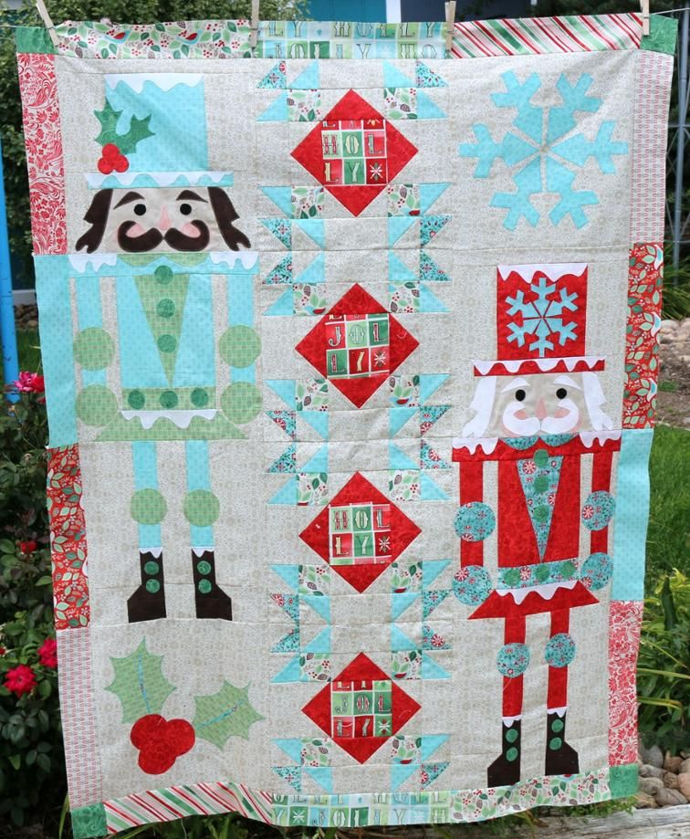 nutty christmas quilt craftsy