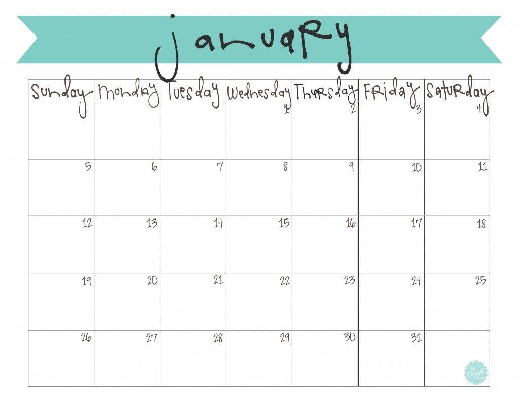 January 2017 Calendar Cute January 2015 Calendar August 2014
