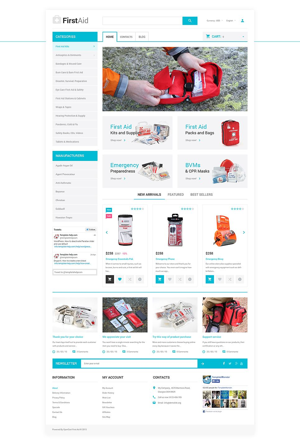 Ambulance Responsive Opencart Template 57732 Medical Websites Best Website Templates First Aid Classes