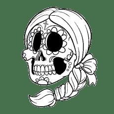 Pin De Laura Monzalvez En Laura Dibujo Dia De Muertos Calaveras