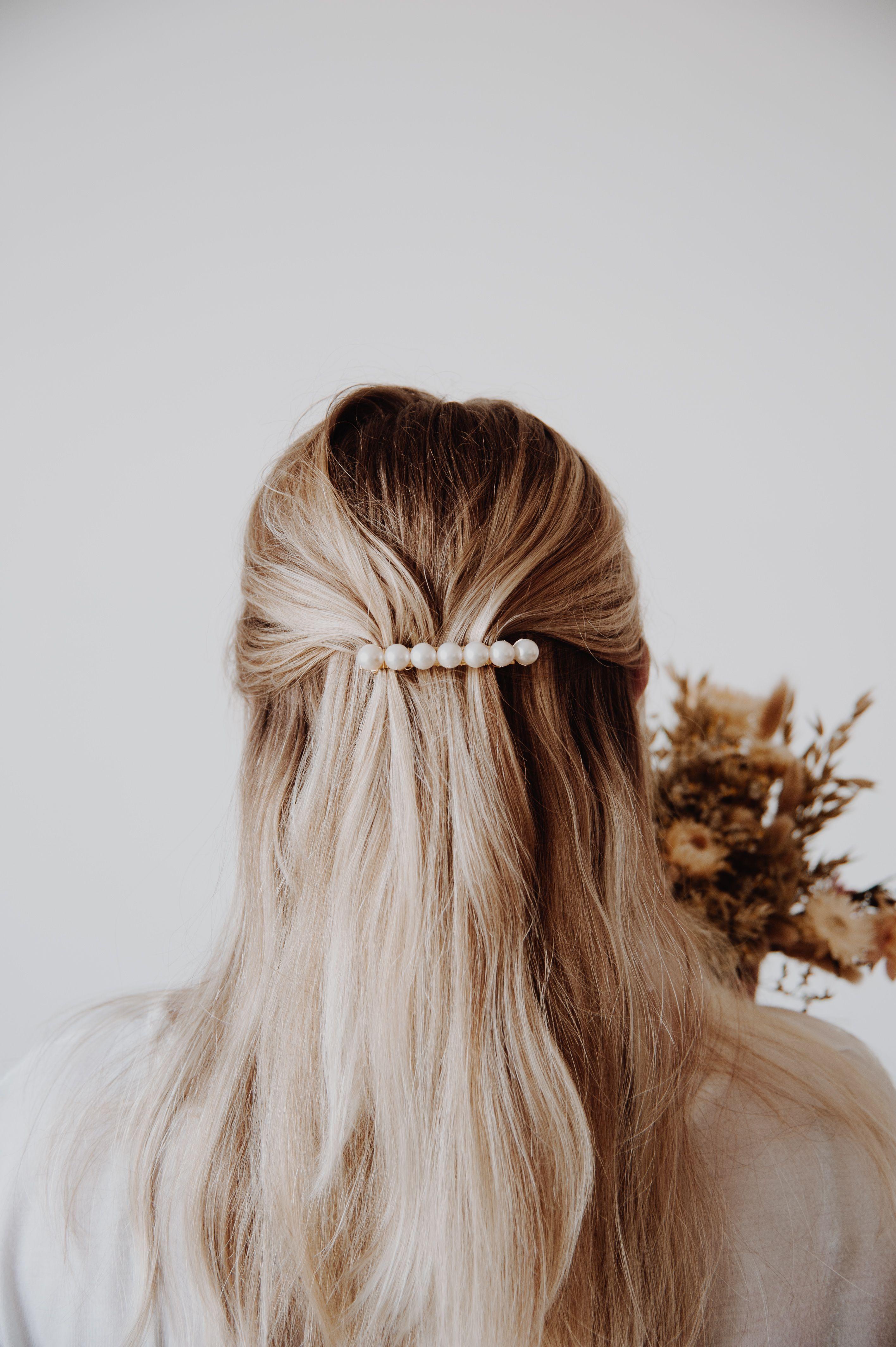 Femmes Vogue Mariée Fleur Bandeau Cheveux Clip Plume Barrette Broche Pin De Mariée