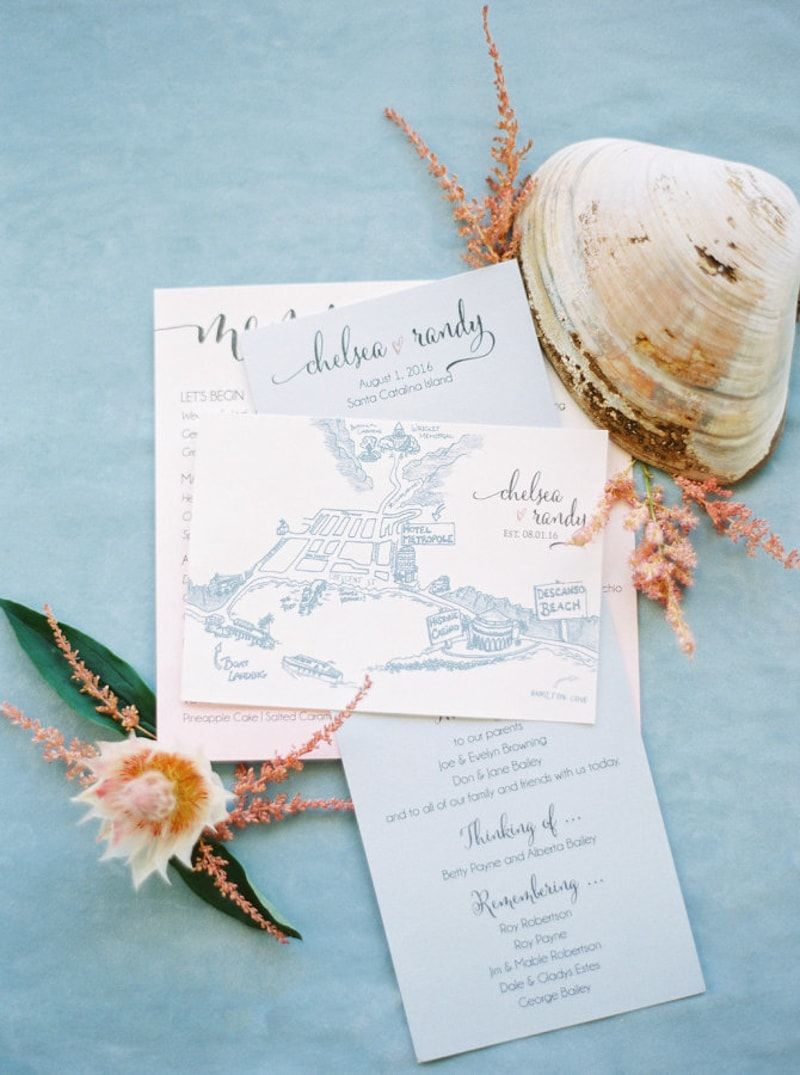 Baby Blue Invitations From Trendy Bride Blog Feature Http Www