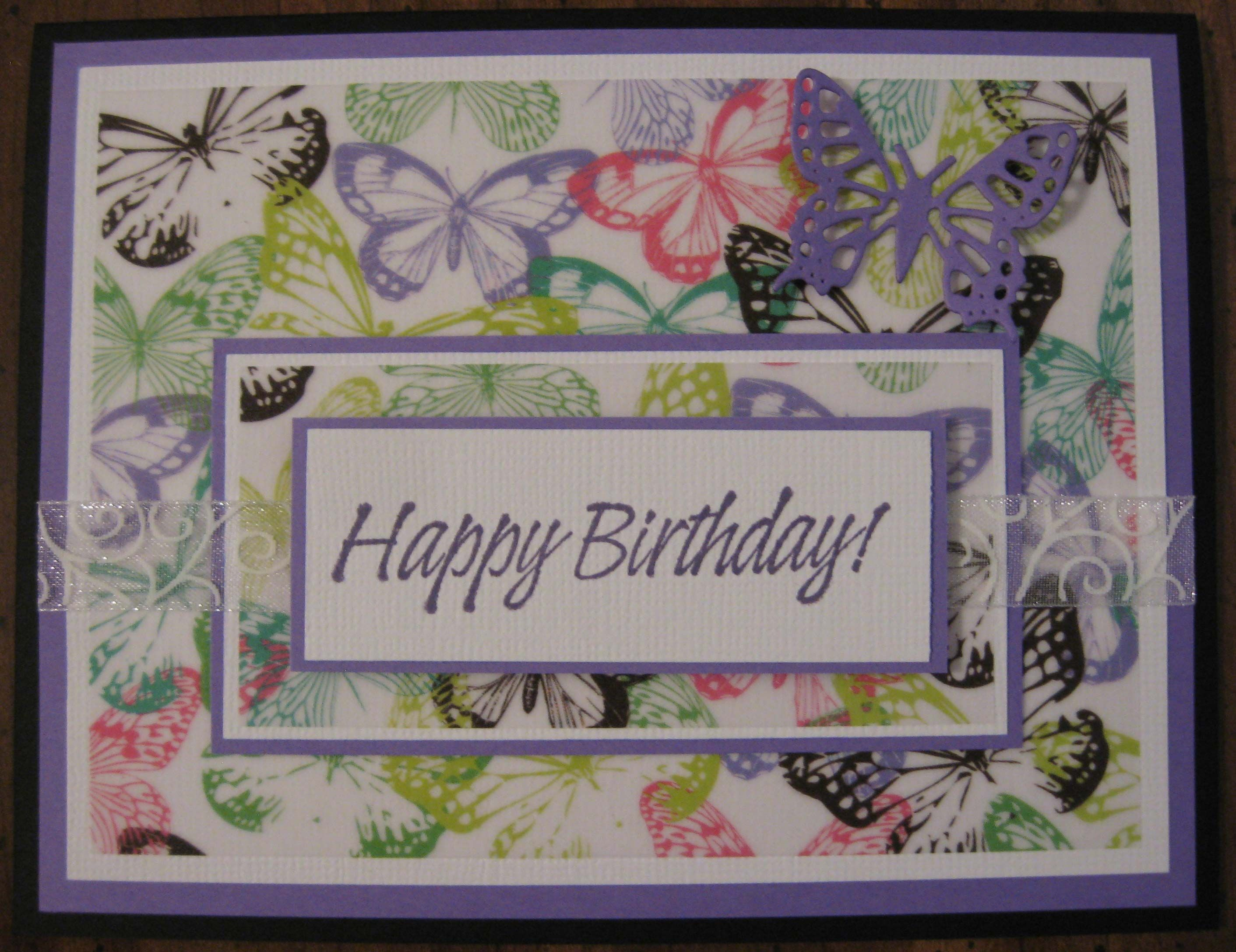 By Patsy Collins Layers And The Beautiful Butterfly Printed Vellum
