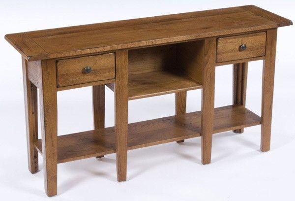 Broyhill Furniture Attic Heirlooms Natural Oak Stain Sofa Table Bro 3397 09sv Broyhill Furniture Furniture Heirloom Furniture
