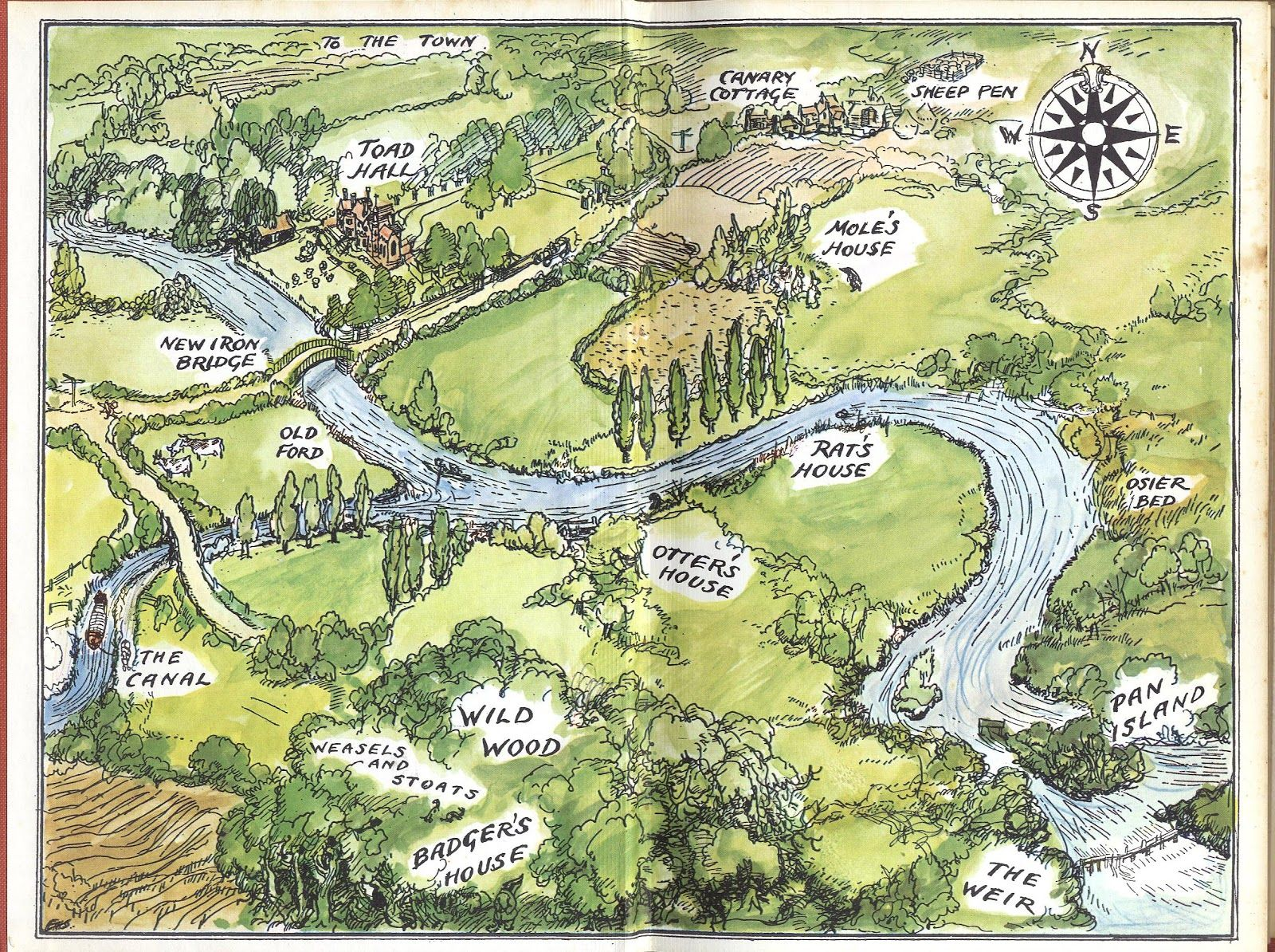 Wind in the Willows map The wind in the willows