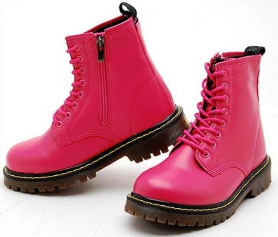 Stationed at Hot Pink Combat Boots Today | Combat boot and Hot pink
