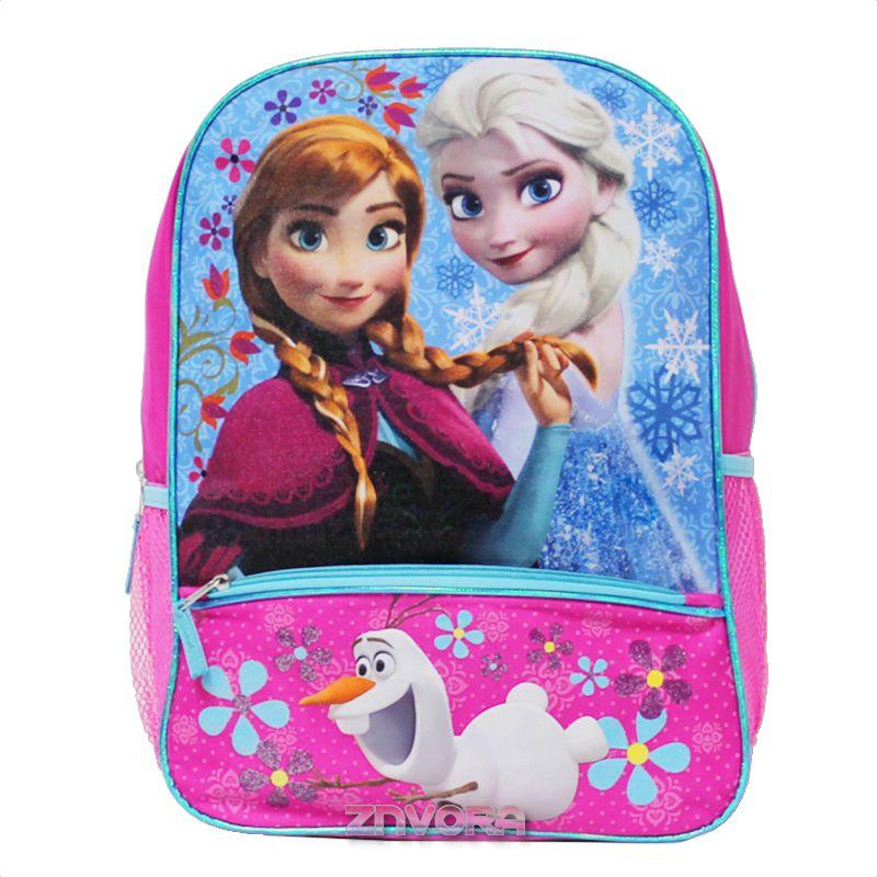 Official Licensed Kids Boys /& Girls School Backpack with Side Mesh Pocket Frozen