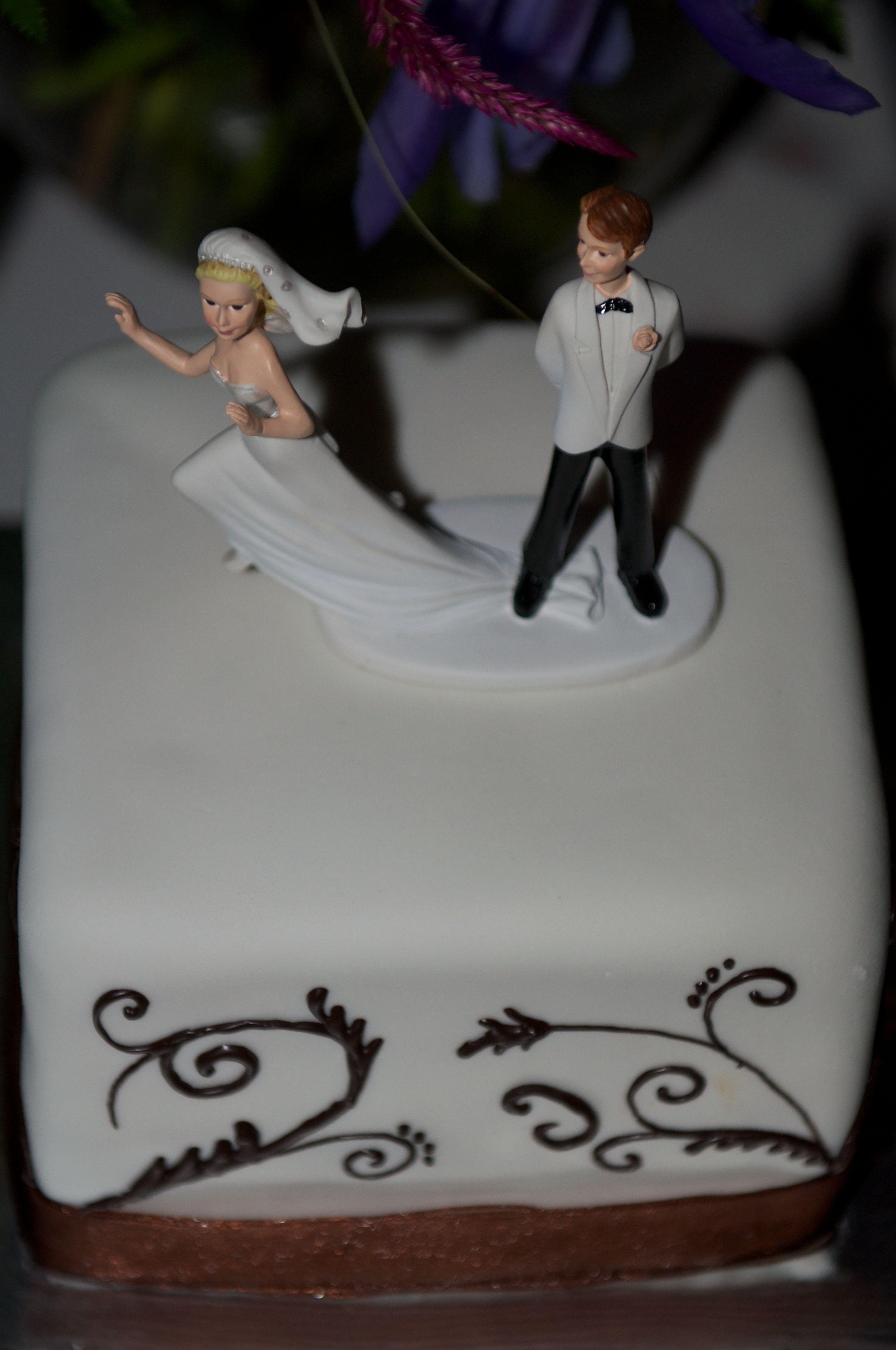 Cake topper runaway bride runaway bride bride wedding