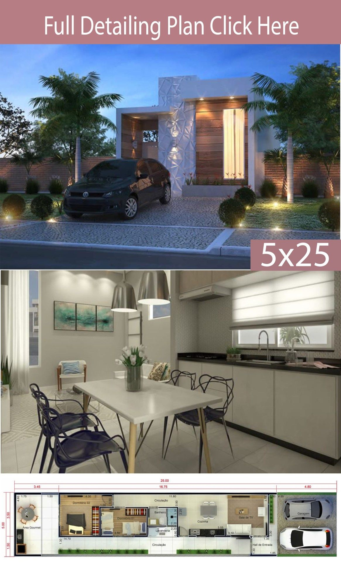 Home Design 5x25 Meters Home Design With Plansearch House Design Indoor Design Dream Home Design