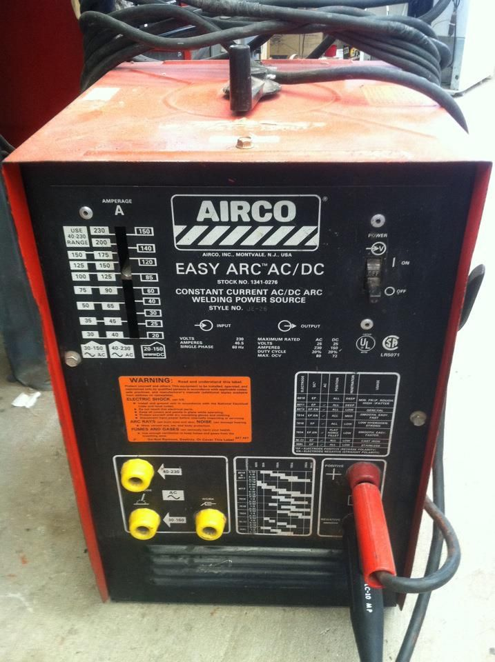 my craigslist welder find  the airco easy arc is a relabeled miller  thunderbolt ac-