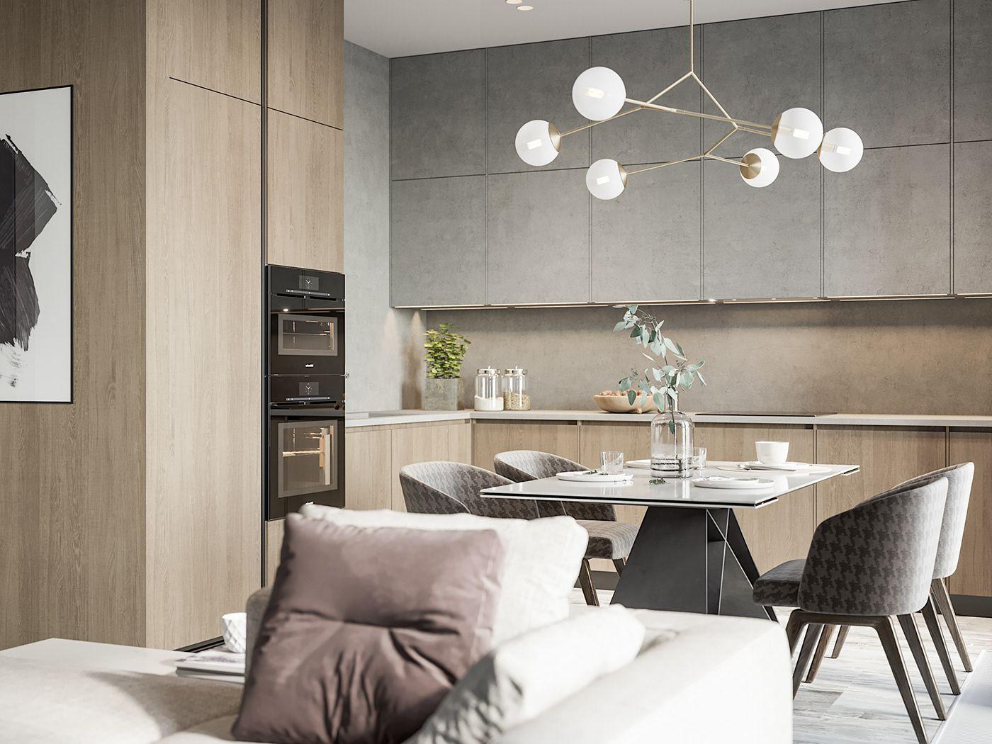 80 Sqm On Behance Modern Houses Interior House Interior
