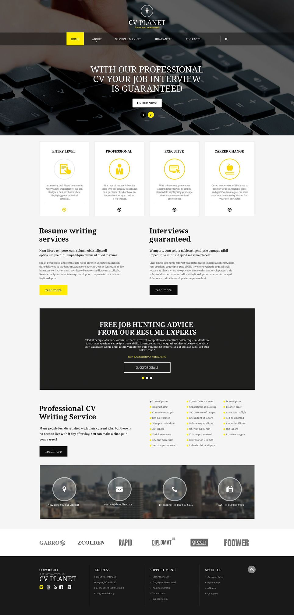 Investment pany Responsive Website Template