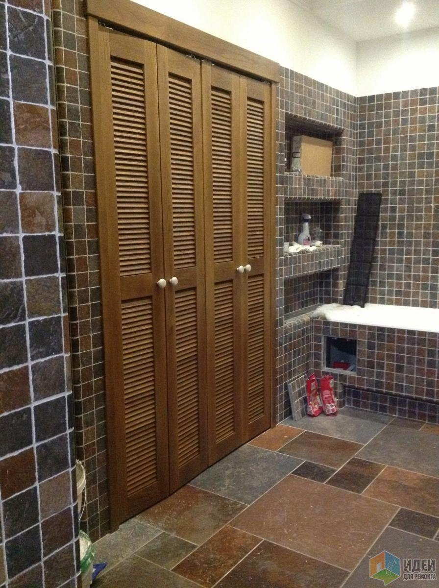 Ванная комната детали, жалюзийные двери, красивые ванные фото