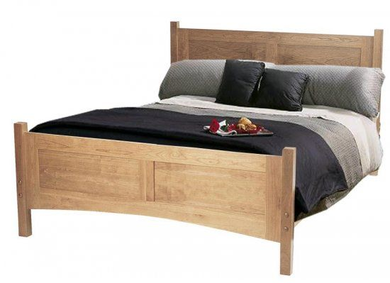 Handmade Wood Beds Classic Flat Panel Bed Solid Wood Bed