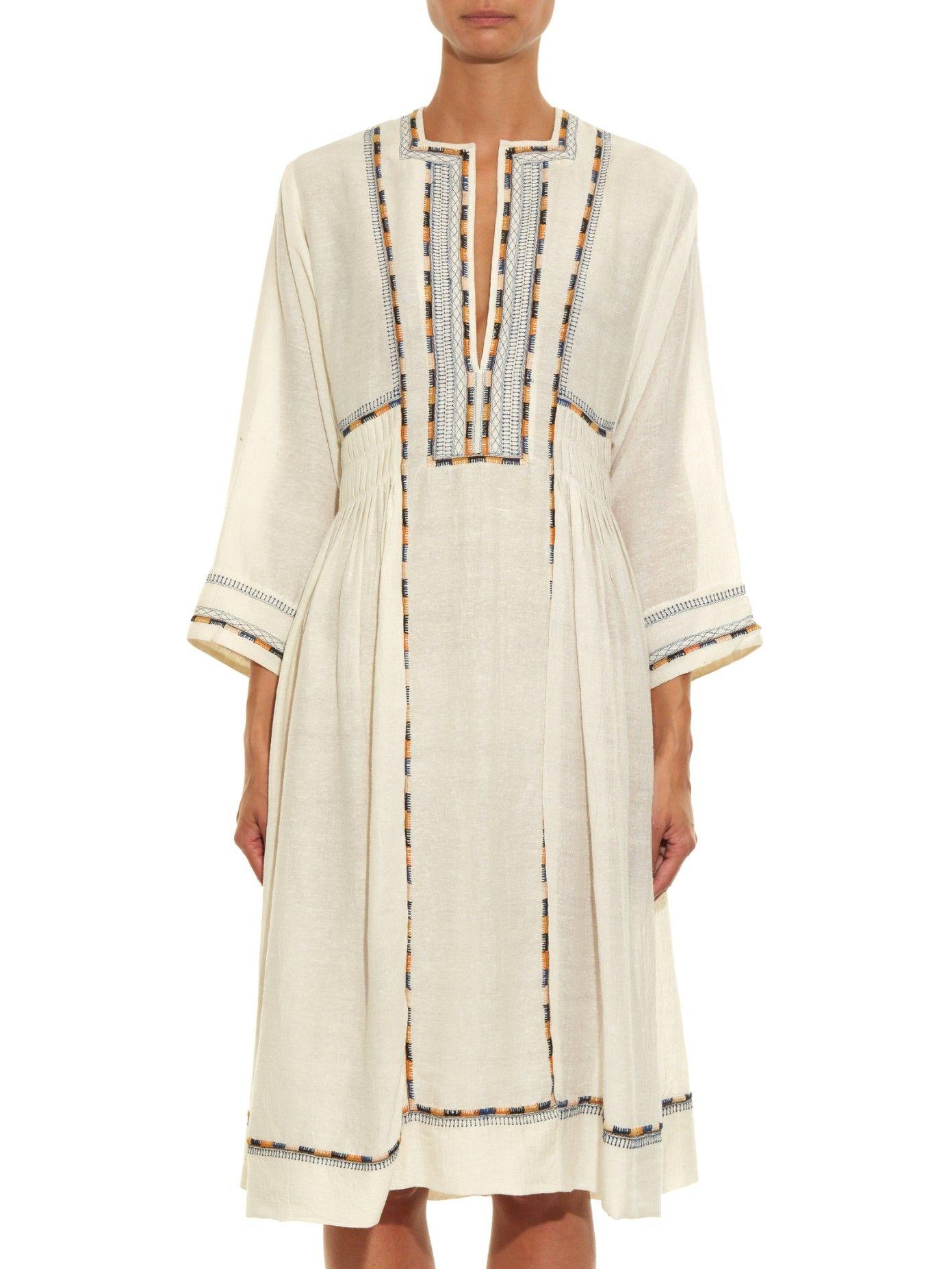 Clayne embroidered dress   Isabel Marant   MATCHESFASHION.COM US