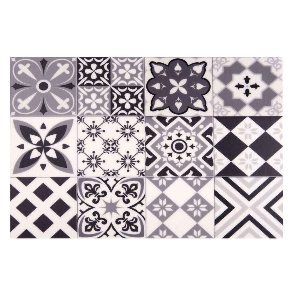 Set De Table En Vinyle Motifs Carreaux De Ciment 30x45 Set De