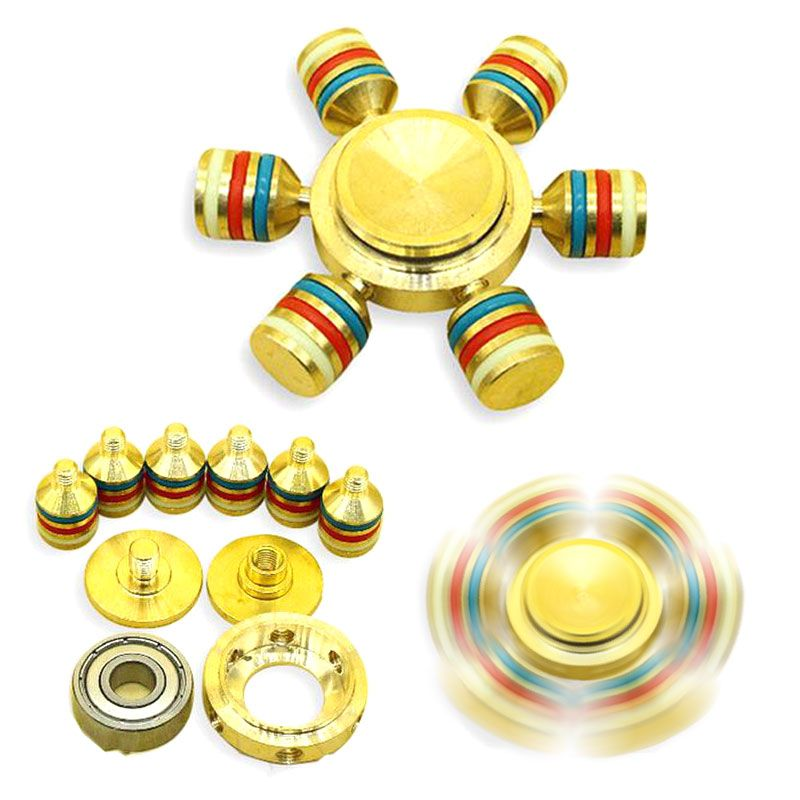 Hand Fid Spinner Ceramic Ball Reduce Stress Desk Fid Toys Kids