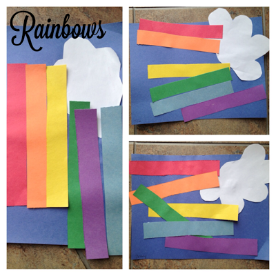 Toddler Rainbow Craft for St. Patricks Day #rainbowcrafts