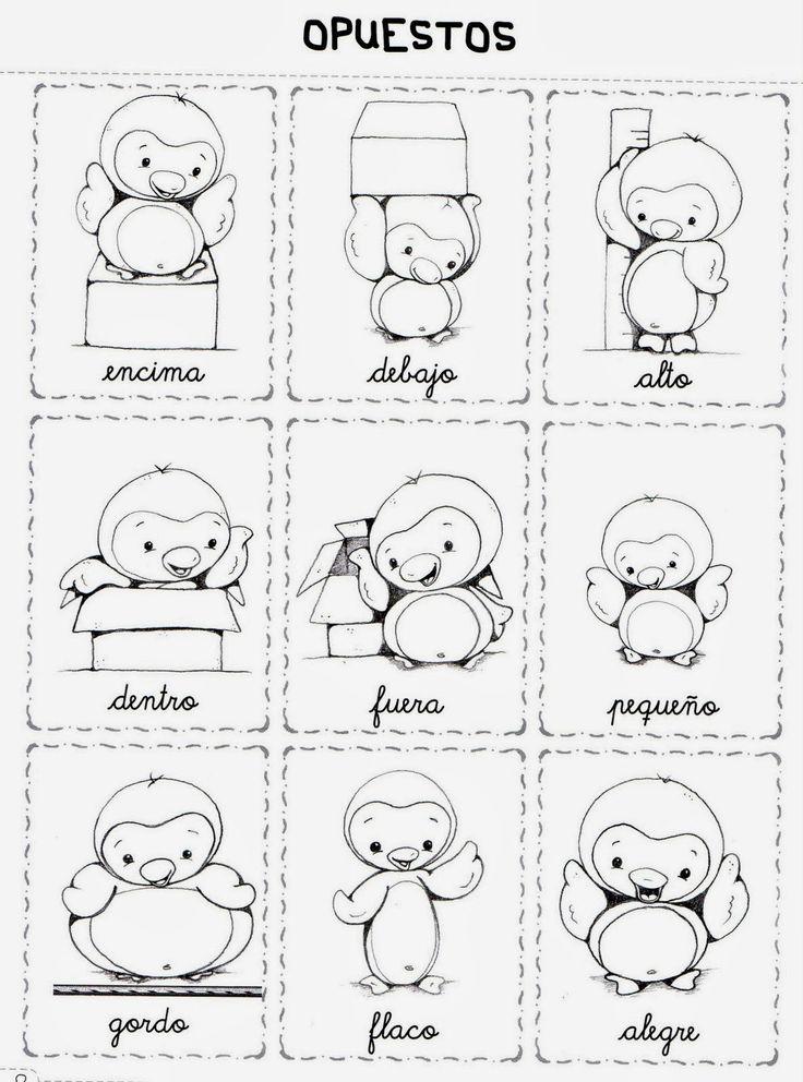 Pin de Mercedes Cruz en dibujos | Pinterest | Opuestos, La clase y ...