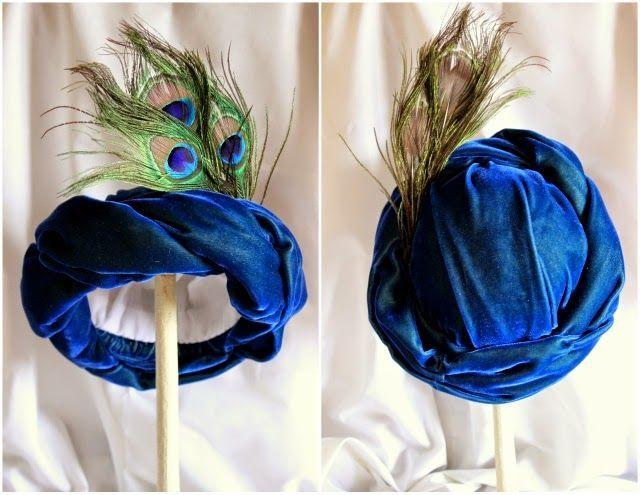 Adults Costume Turbin Head Wrap Hat Genie Magic Wizard Panto Theatre Play