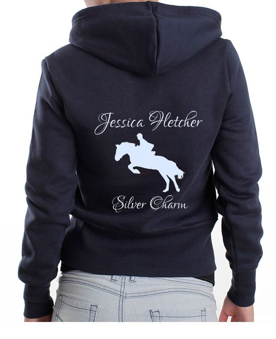 c309732b8 Cute Personalised Horse Name   Owner Hoodie. Polo or T-Shirt