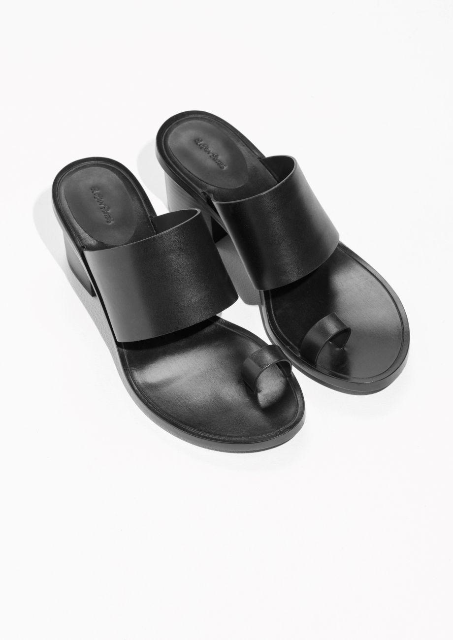 & Other Stories Toe Slide Sandal in Black