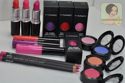 MAC Fashion Sets Lipsticks and Lip Pencil Swatches, Review: Silly, Ablaze, Heroine, Embrace Me |The Shades Of U Makeup #MAC #FashionSets #MACFashionSets