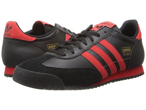 adidas dragon shoes black and red