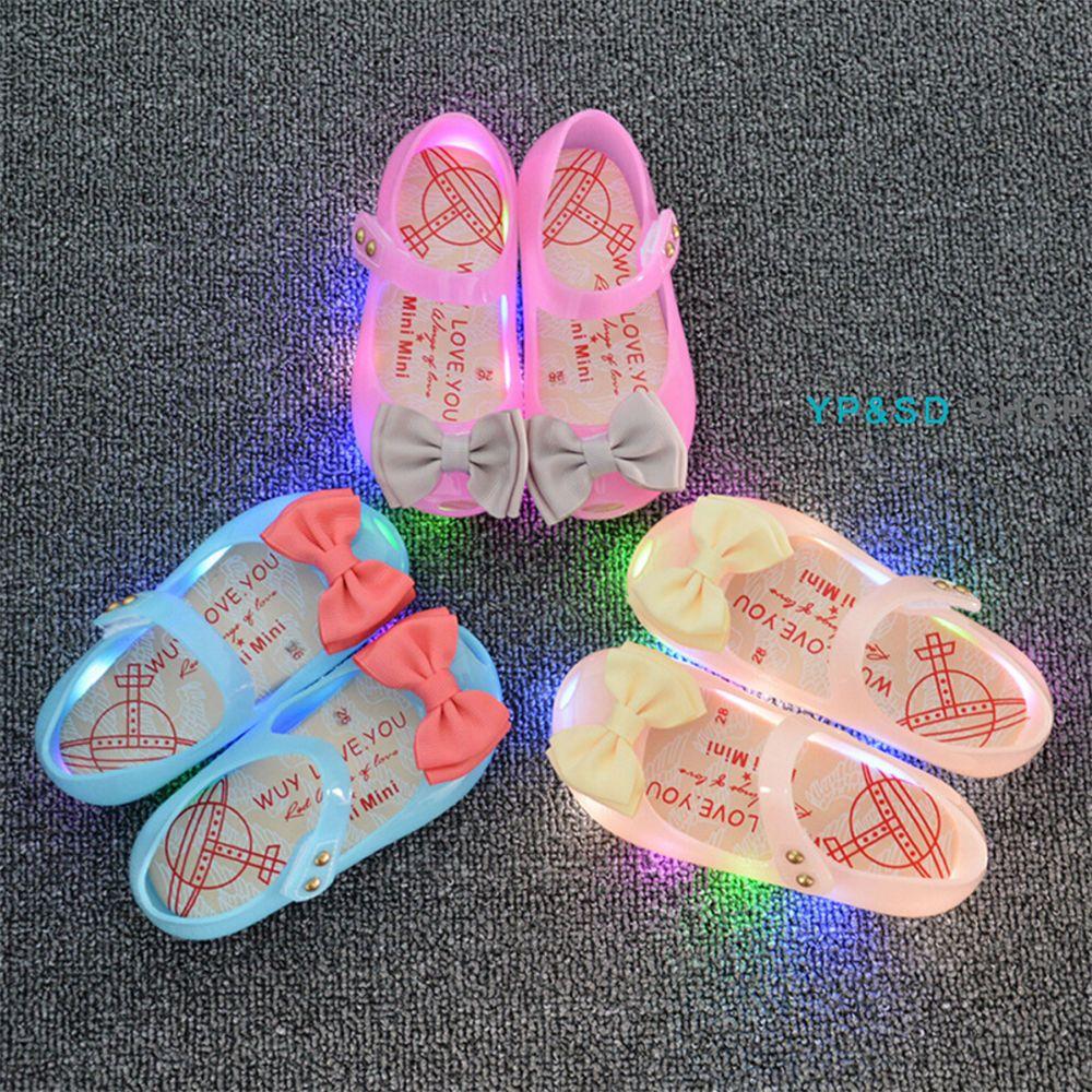 Kids Girls Toddler LED Shoes Bowknot