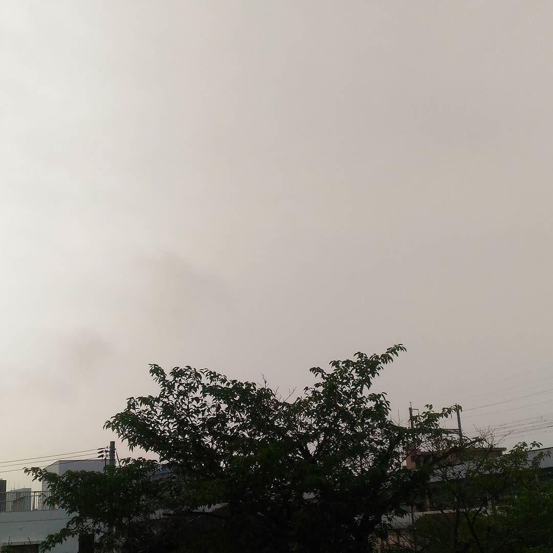 おはようございます曇り空の木曜日今日はもう降らないでほしい #sky #cloud #空 #雲 #イマソラ #goodmorning #おはよう