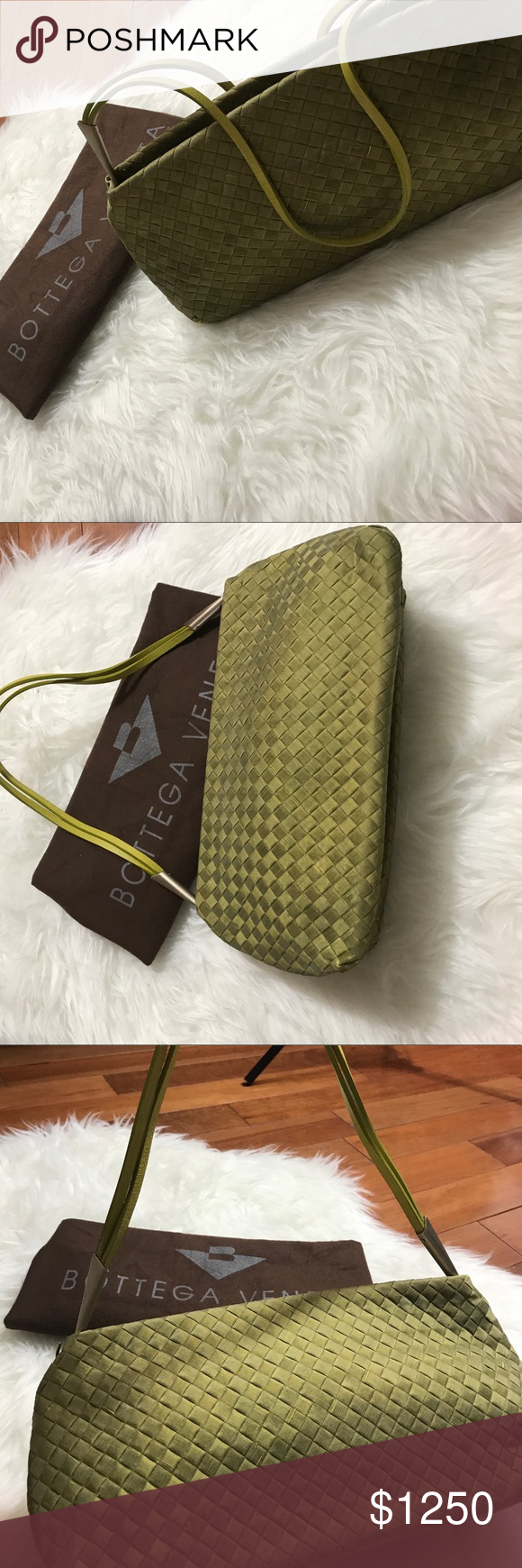 Bottega Veneta Purse Beautiful green authentic 100% real Bottega Veneta made in Italy purse. I used this maybe once. Looks brand new. Inside is brand new. I bought this the day it came out in one of their collections. I paid full retail price at the Bal Harbor shops in Miami FL.🌞Questions? Ask! Best offer. Bottega Veneta Bags Shoulder Bags
