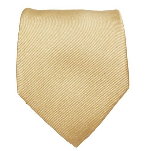 Necktie - Woven Jacquard silk in solid khaki beige Notch