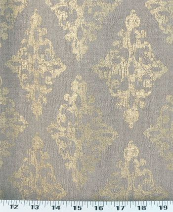 backdrop fabric - this gold stamped linen is gorgeous, but at $35 - telas para cortinas