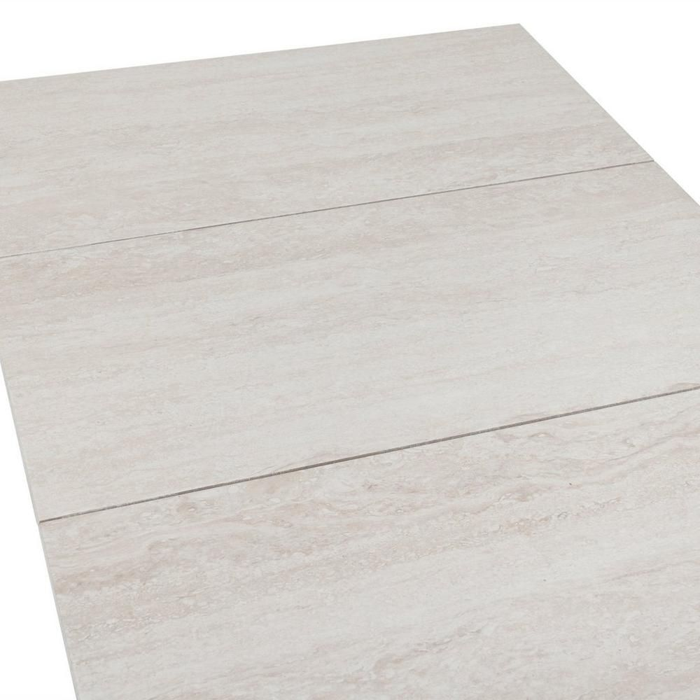 Forum Ivory Porcelain Tile 12in X 24in 100047117 Floor And Decor Ivory Porcelain Tiles Porcelain Tile Stone Look Tile