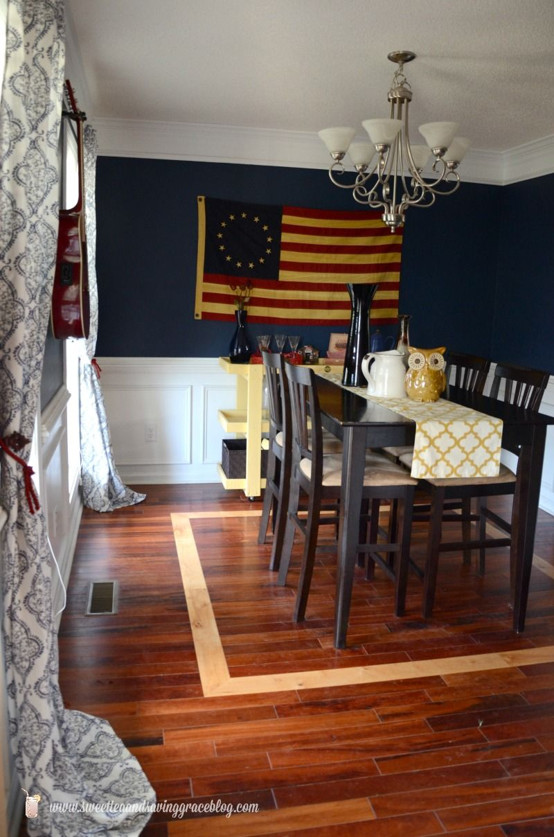 "Americana Dining Room  Sweet Tea & Saving Grace  ""hometalk Alluring Funky Dining Room Ideas Inspiration"