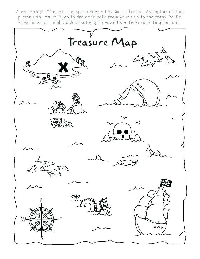 Pirate Treasure Maps Printable Treasure Map Coloring Pages Pirate Treasure Map Printable Map Pirate Treasure Maps Treasure Maps For Kids Pirate Maps
