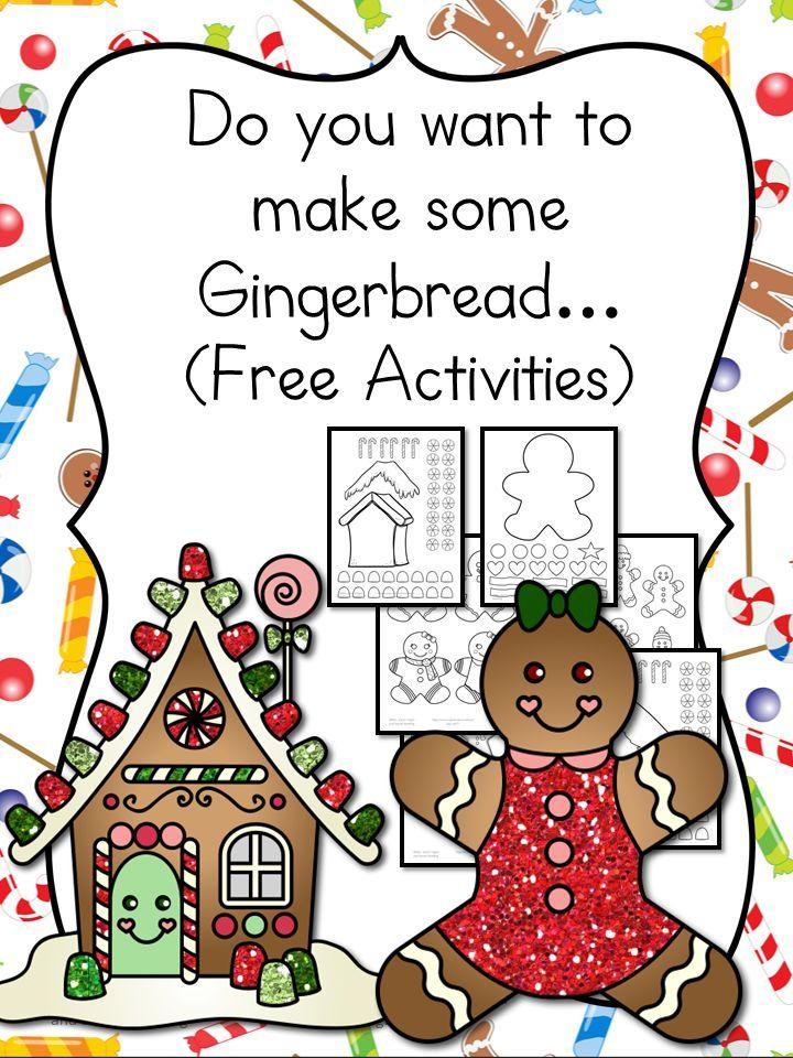 Gingerbread Man Cutout Activity Kindergarten activities - gingerbread man template