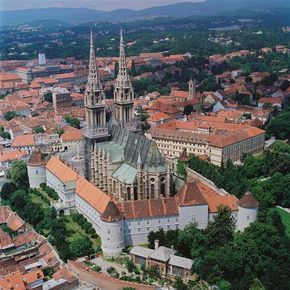 Zagreb Cathedral Croatia Fortifications Were Built Around The Cathedral In The 15th Century Because The Ottoman Croatia Tourism Zagreb Croatia Croatia Travel