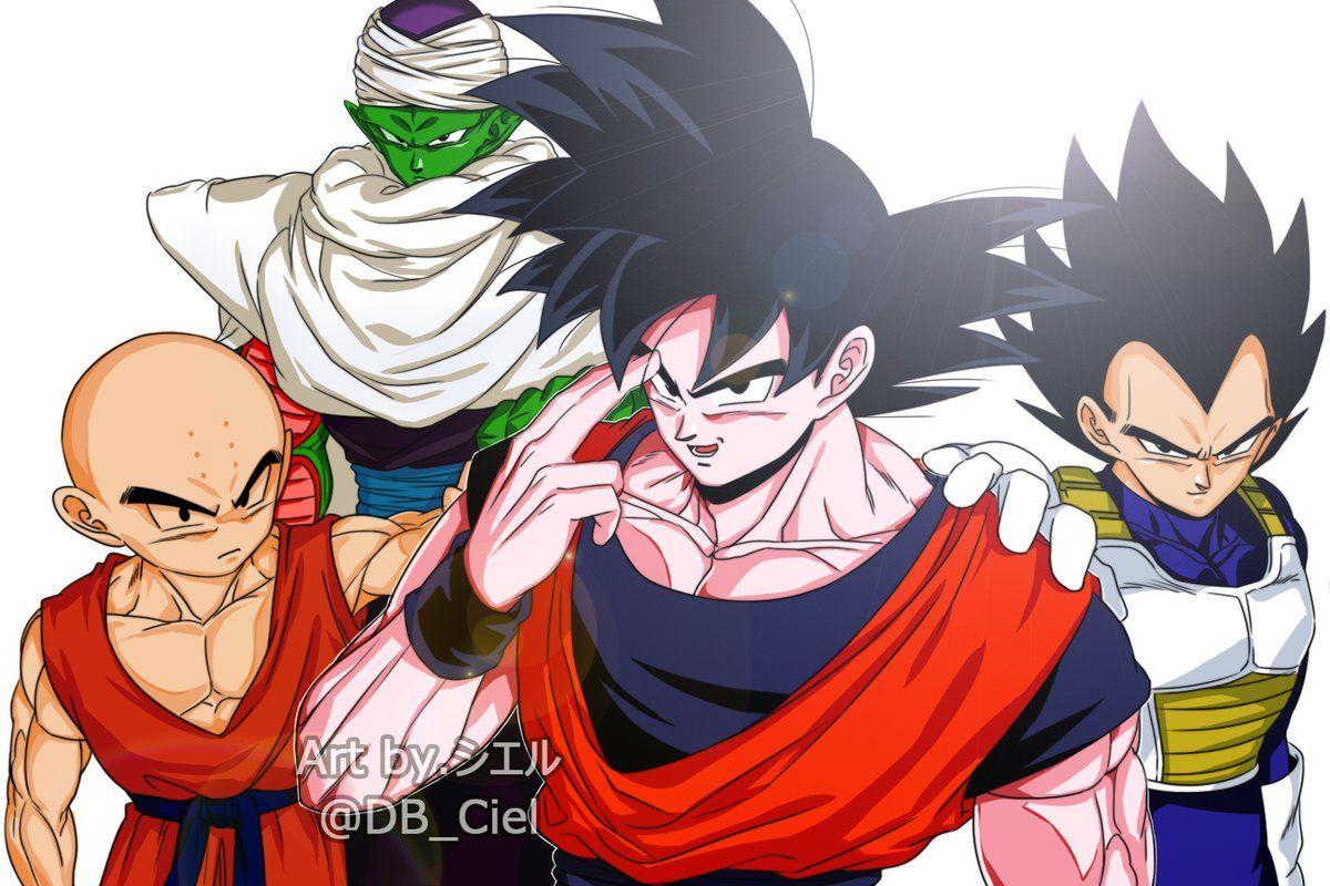Piccolo Goku Krillin And Vegeta Vegeta Pinterest Dragon