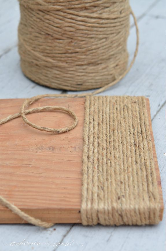 Rustic Wood Footstool Gets a Makeover with Twine