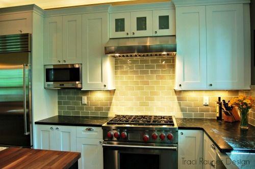 kitchen remodel, white cabinets, sub zero, wolf, granite, walnut ...
