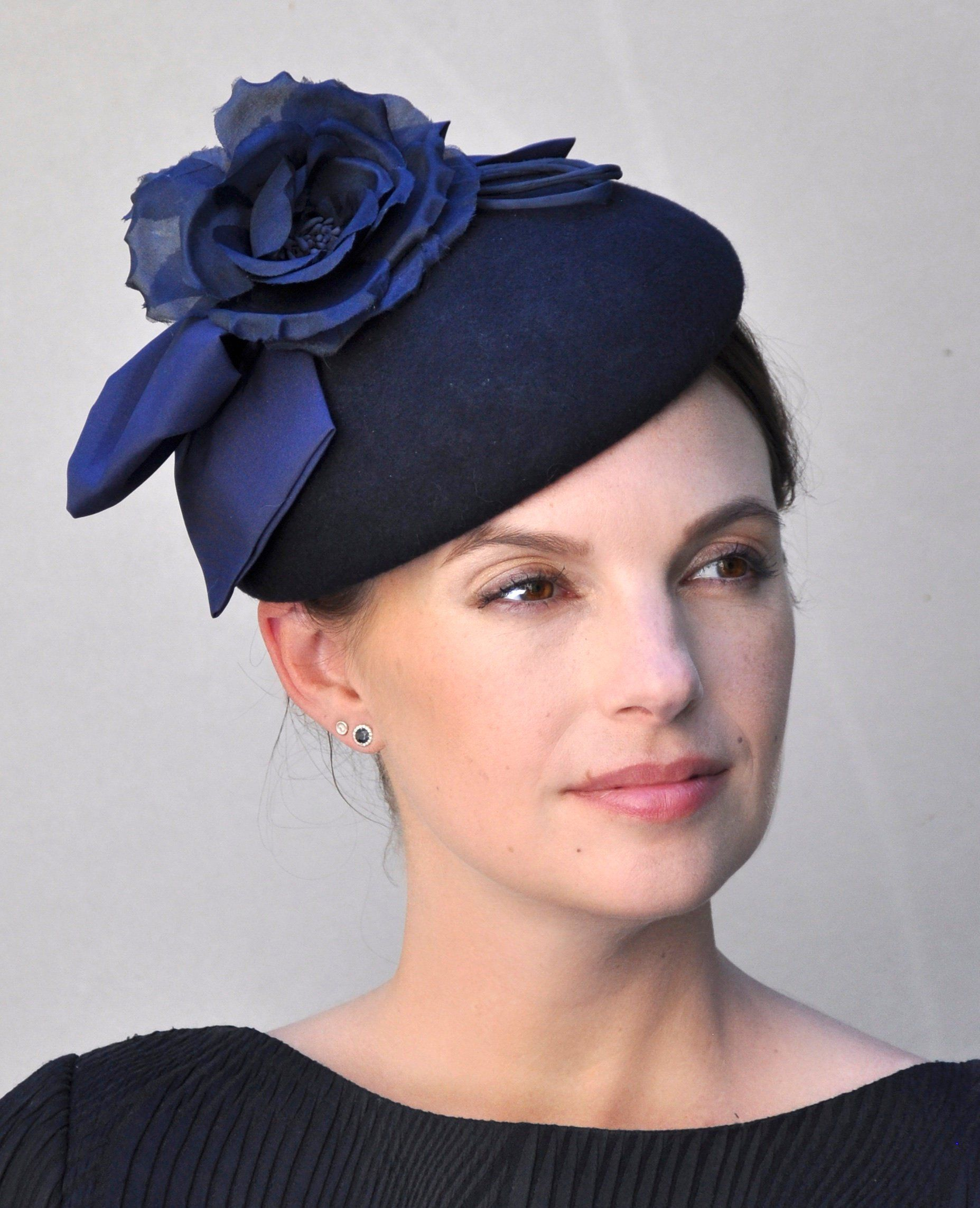 Navy Fascinator c9d08bd31fe