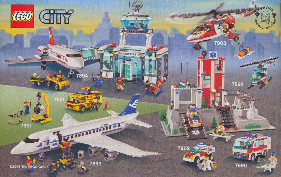 City Airport Firetruck Lego 7891 Lego Nerd Pinterest City