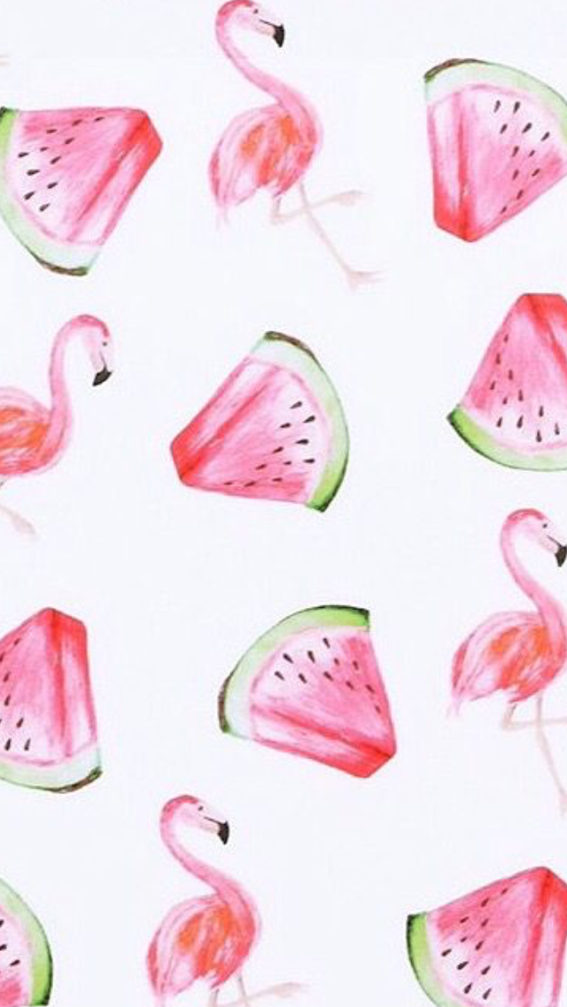 Pin By Lily Tunstall On Iphone Wallpapers Watermelon Wallpaper Flamingo Wallpaper Watercolor Iphone