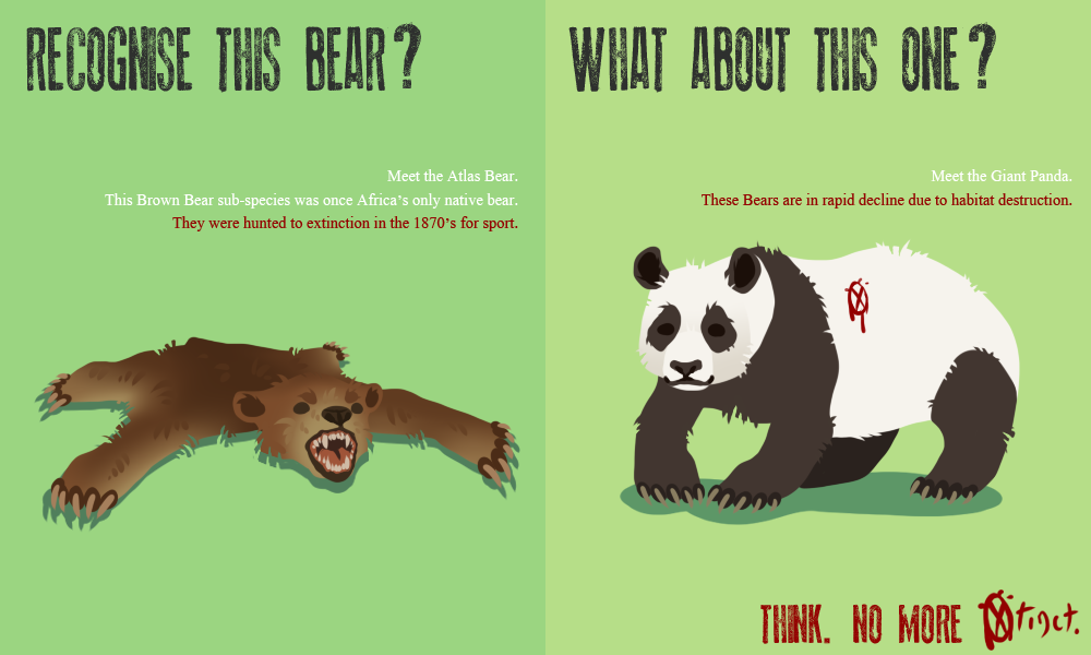 save endangered species posters Xtinction Poster 01