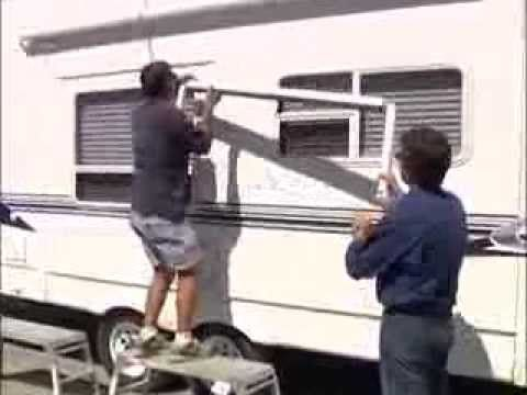 Rv How To Install An Awning Youtube
